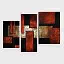 זול ציורים מופשטים-ציור שמן צבוע-Hang מצויר ביד - מופשט מודרני כלול מסגרת פנימית / שלושה פנלים