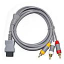 Недорогие Умные браслеты-композитный кабель аудио-видео кабель 3 rca-6 футов для Nintend Wi-Fi / монитор v1