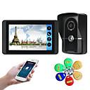olcso Videó kaputelefonok-618fgid11 7 hüvelykes kapacitív érintőképernyős videokamera vezetékes videó ajtócsengő wifi / 3g / 4g távoli hívás feloldása tároló vizuális intercom külső gép azonosítója funkció egy-egy