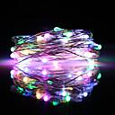 זול חוט נורות לד-Zdm 5 m פלאש צבעוני מובנה אורות מחרוזת ic 50 נוריות smd 0603 מסיבת צבע רב / דקורטיבי / קישוט חג המולד קישוט usb מופעל / סוללות aa מופעל 1 pc