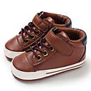 halpa Lasten saappaat-Poikien PU Bootsit Vauvoilla (0-9m) / Taapero (9m-4ys) Ensikengät Musta / Tumman sininen / Ruskea Syksy / Talvi
