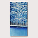 povoljno Apstraktno slikarstvo-Hang oslikana uljanim bojama Ručno oslikana - Pejzaž Apstraktni pejsaži Moderna Uključi Unutarnji okvir