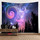 billiga Wall Tapestries-Trädgårdstema / Blom-tema Väggdekor 100% Polyester Moderna Väggkonst, Vägg Tapestries Dekoration