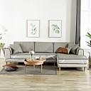 זול כיסויים-כרית הספה אחיד / עכשווי מובלט סיבי במבוק כיסויים
