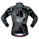 hesapli Bisiklet Formaları-WOSAWE Erkek Kadın's Uzun Kollu Bisiklet Forması Kamuflaj kamuflaj Bisiklet Forma Üstler Hızlı Kuruma Spor Dalları Polyester Splandeks Dağ Bisikletçiliği Yol Bisikletçiliği Giyim / Streç / Gelişmiş