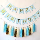 זול ימי הולדת-קישוטים לחג חגים ומועדים משוך את הדגל Party כחול 1pc