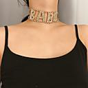 זול תיקי יד-בגדי ריקוד נשים חישוק לצוואר Chrome זהב כסף 40 cm שרשראות תכשיטים 1pc עבור יומי בית הספר רחוב חגים פֶסטִיבָל