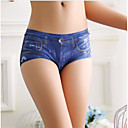 cheap Panties-Women's Normal Boxers Underwear - Lace / Basic Low Waist Blue Black Red One-Size