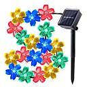 זול חוט נורות לד-lende 7m פרח מחרוזת אורות 50 leds לטבול הוביל לבן חם / rgb / לבן / waterproof / השמש מופעל עבור חג המולד / הודיה