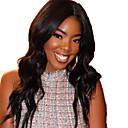 זול פיאות תחרה משיער אנושי-שיער אנושי חזית תחרה פאה חלק חינם בסגנון שיער ברזיאלי גלי שחור פאה 130% צפיפות שיער עם שיער בייבי שיער טבעי לנשים שחורות בתולה100% 100% קשירה ידנית בגדי ריקוד נשים ארוך פיאות תחרה משיער אנושי