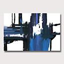 זול ציורים מופשטים-ציור שמן צבוע-Hang מצויר ביד - מופשט מודרני ללא מסגרת פנימית