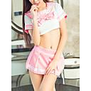 povoljno Seksi kostimi-Žene Izrezati Sexy Seksi spavaćica / kineska haljina / Odijelo Noćno rublje Jednobojni Blushing Pink L XL XXL / V izrez