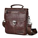 hesapli Erkek Çocuk Çantaları-Erkek Fermuar Sığır Derisi İş çantası Tek Renk Kahve / Sonbahar Kış