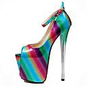 זול נעלי עקב לנשים-בגדי ריקוד נשים עקבים עקב סטילטו סינטטיים בריטי / מִעוּטָנוּת קיץ & אביב / קיץ פוקסיה / ירוק / חתונה / מסיבה וערב