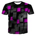 billige OBD-Rund hals T-skjorte Herre - 3D, Trykt mønster Grønn