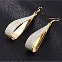 זול סטים של תכשיטים-בגדי ריקוד נשים עגילי טיפה קלאסי מסוגנן פשוט עגילים תכשיטים זהב / כסף עבור יומי עבודה זוג 1