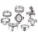 זול טבעות-בגדי ריקוד נשים טבעת הגדר זירקונה מעוקבת 8pcs כסף סגסוגת מעגלי ארופאי חתונה תכשיטים חמוד