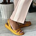 povoljno Ženske sandale-Žene Sandale Šalovi s ravnim peta Creepersice Otvoreno toe Eko koža Ležerne prilike Ljeto Obala / žuta / Bijela