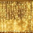 זול חוט נורות לד-3mx2m 240led לבן / חם לבן / ססגוניות אור רומנטית חג המולד חתונה חוצות קישוט וילון אור