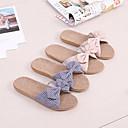 povoljno Papuče-ženske papuče u obliku leptira / lanene papuče / kućne papuče / papuče za putnike / prugasti uzorak / papuče od poliesterskog vlakna
