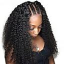 halpa Aitohiusperuukit verkolla-Aidot hiukset Full Lace Peruukki Vapaa osa tyyli Perulainen Kihara Musta Peruukki 130% Hiusten tiheys Naisten Musta Naisten Lyhyt Aitohiusperuukit verkolla Clytie