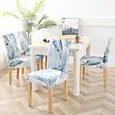 זול כיסויים-כיסוי לכיסא פרחוני / קלאסי / עכשווי הדפסה תגובתית פוליאסטר כיסויים