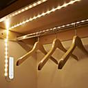 povoljno Muška sportska obuća-1m Savitljive LED trake / Smart Lights 30 LED diode SMD2835 1 x PIR osjetnik Toplo bijelo / Hladno bijelo Kreativan / Ukrasno / Osjetnik tijela Baterije su pogonjene 1pc