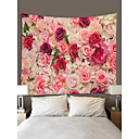 cheap Game Consoles-Garden Theme / Floral Theme Wall Decor 100% Polyester Classic / Modern Wall Art, Wall Tapestries Decoration