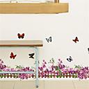 halpa Seinätarrat-Koriste-seinätarrat - Lentokone-seinätarrat Arabesque / Kukkakuvio / Kasvitiede Makuuhuone