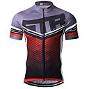 cheap Cycling Pants, Shorts, Tights-21Grams Dot Stripes Men's Short Sleeve Cycling Jersey - Red+Brown Bike Jersey Top Breathable Moisture Wicking Quick Dry Sports Terylene Mountain Bike MTB Clothing Apparel / Micro-elastic / Race Fit