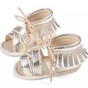 billige Sandaler til damer-Jente PU Sandaler Spedbarn (0-9m) / Toddler (9m-4ys) Første gåsko Sølv / Fuksia / Marineblå Sommer