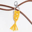 זול ממיר כוח-מחזיקי מפתחות אפור כהה אפור בהיר סגסוגת גיאומטרית פשתן / rayon עבור מתנה יומית בעבודת יד