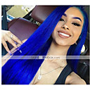 זול פיאות תחרה משיער אנושי-שיער אנושי 13x6 סוגר פאה תספורת אסימטרית עמוק הפרידה חלק חינם בסגנון שיער ברזיאלי טבעי כחול פאה 150% צפיפות שיער עם שיער בייבי שיער טבעי פאה אפרו-אמריקאית לנשים שחורות ללא שם: עם קשרים בליצ '