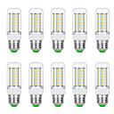 billige LED-kolbelamper-10pcs 8 W LED-kolbepærer 3000 lm G9 B22 E12 / E14 T 56 LED Perler SMD 5730 Varm hvid Hvid 220 V 110 V