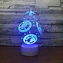 olcso 3D éjszakai világítás-1db 3D éjszakai fény USB Kreatív / Születésnap / USB porttal 5 V