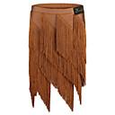 זול דלת חומרה & מנעולים-ריקוד לטיני חלקים תחתונים בגדי ריקוד נשים הדרכה / הצגה ספנדקס פרנזים / מפרק מפוצל טבעי חצאיות