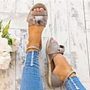 hesapli Kadın Sandaletleri-Kadın's Sandaletler Düz Taban Burnu Açık Toka Süet Yaz Siyah / Pembe / Gri