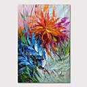 povoljno Slike sa životinjskim motivima-Hang oslikana uljanim bojama Ručno oslikana - Sažetak Cvjetni / Botanički Moderna Bez unutrašnje Frame
