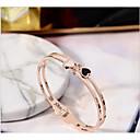 זול צמידים חרוטים-מותאם אישית מותאם אישית שחור צמיד פלדת טיטניום קלאסי מתנה הבטחה פֶסטִיבָל Geometric Shape 1pcs זהב ורד