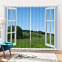 halpa Ikkunoiden verhot-3d digitaalinen painatus maisema polyesteri yksityisyyttä kaksi paneelia verho opiskeluhuone / toimisto / olohuone vedenpitävä pölytiivis koriste verhot