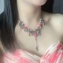 abordables Colliers-Collier Femme Vert Bohème Rouge de Rose 40 cm Colliers Tendance Bijoux 1pc pour Quotidien