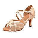 povoljno Cipele za latino plesove-Žene Plesne cipele Eko koža Cipele za latino plesove Štikle Kubanska potpetica Moguće personalizirati Zlato / Srebro / Seksi blagdanski kostimi / Vježbanje