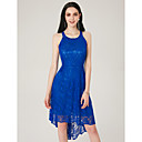 זול שמלות שושבינה-גזרת A עם תכשיטים א-סימטרי תחרה מסיבת קוקטייל שמלה עם תחרה משולבת על ידי TS Couture®