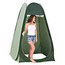 hesapli Çadır ve Barınaklar-1 Kişi Duş Çadırları Çadır açılır Açık hava Taşınabilir Nemgeçirmez Hızlı Kuruma Tek Katmanlı Namiot typu Pop-Up Dome Kamp çadırı 2000-3000 mm için Kamp Seyahat Dış Mekan PU Deri 190*120*120 cm