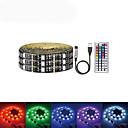 billige LED Strip Lamper-5 m Lyssett 150 LED SMD5050 RGB USB / Fest / Selvklebende 5 V / USB-ladet 1set