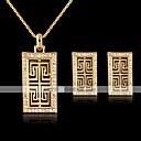 hesapli Moda Küpeler-Kadın's Vidali Küpeler Uçlu Kolyeler Şalter Şık Klasik Altın Kaplama Küpeler Mücevher Altın Uyumluluk Günlük Çalışma 1set