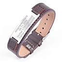 billiga Fickpluntor-Personlig Läder / Rostfritt stål / järn Armband / Fotledsband Honom / Brudgum / Kollegor Gåva / Dagliga kläder -
