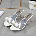 povoljno Cipele za latino plesove-Žene Sandale Kockasta potpetica Sintetika Ljeto Obala / Crn / Pink