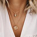 זול שרשרת אופנתית-בגדי ריקוד נשים שרשראות Layered Chrome זהב 54 cm שרשראות תכשיטים 1pc עבור יומי בית הספר רחוב חגים פֶסטִיבָל