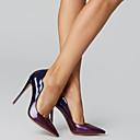 abordables Escarpins-Femme Cuir Verni Printemps été Business Chaussures à Talons Talon Aiguille Bout pointu Noir / Rouge / Amande / Bourgogne / Soirée & Evénement / Bloc de Couleur